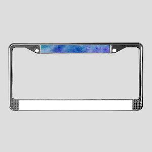 Ocean Aqua Blue Watercolor License Plate Frame