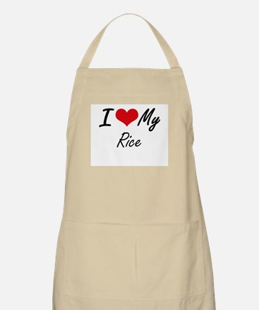 I Love My Rice Apron
