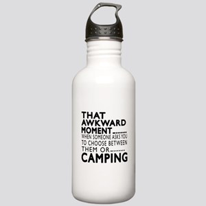 Camping Awkward Moment Stainless Water Bottle 1.0L