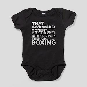 Boxing Awkward Moment Designs Baby Bodysuit