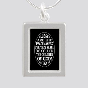 BLESSED ARE... Silver Portrait Necklace