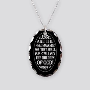 BLESSED ARE... Necklace Oval Charm