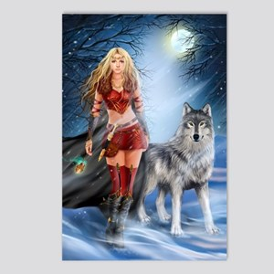 Warrior Woman and Wolf Postcards (Package of 8)