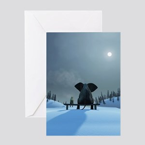 Winter greeting cards cafepress dog and elephant friends greeting card m4hsunfo