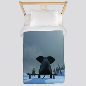 Dog and Elephant Friends Twin Duvet