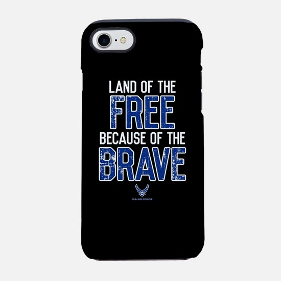 USAF Land of the Free iPhone 8/7 Tough Case