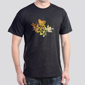 Butterfly and Flowers Dark T-Shirt
