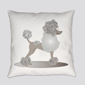 French Poodle Everyday Pillow