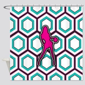 Girls Basketball Player Design Shower Curtain