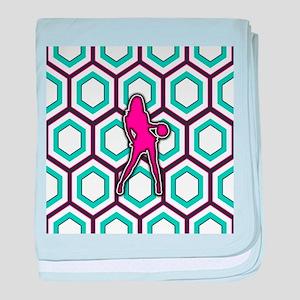 Girls Basketball Player Design baby blanket