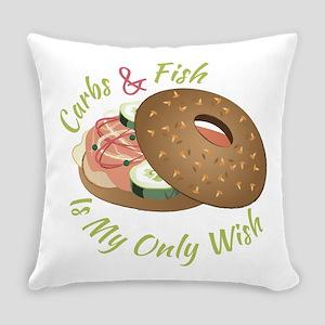 Carbs & Fish Everyday Pillow