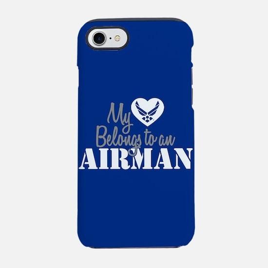 My Heart belongs to an Airman iPhone 8/7 Tough Cas