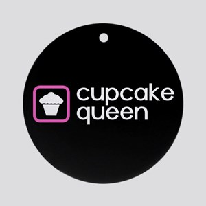 Cupcake Queen (Pink) Round Ornament
