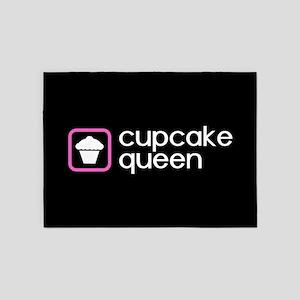 Cupcake Queen (Pink) 5'x7'Area Rug