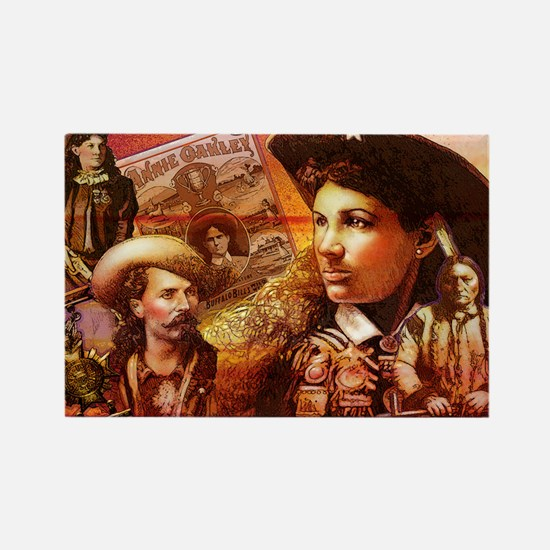 Annie Oakley Rectangle Magnet