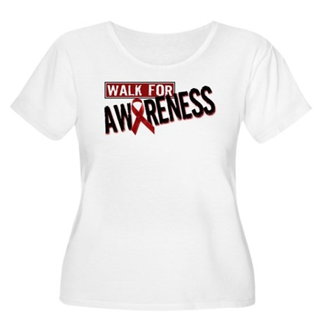 Walk For Awareness Women's Plus Size Scoop Neck T-