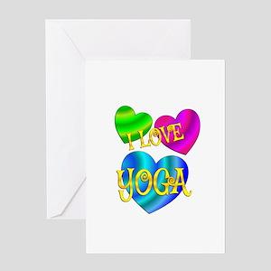 I Love Yoga Greeting Card