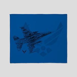 Air Force Logo Jet Throw Blanket