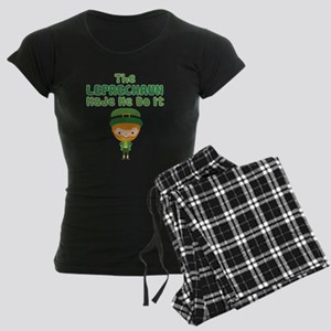 Leprechaun Made Me Women's Dark Pajamas