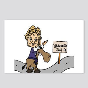 Hillary Clinton Riding Do Postcards (Package of 8)