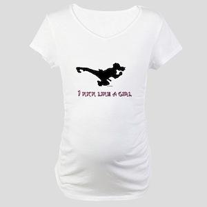 I Kick Like A Girl Maternity T-Shirt