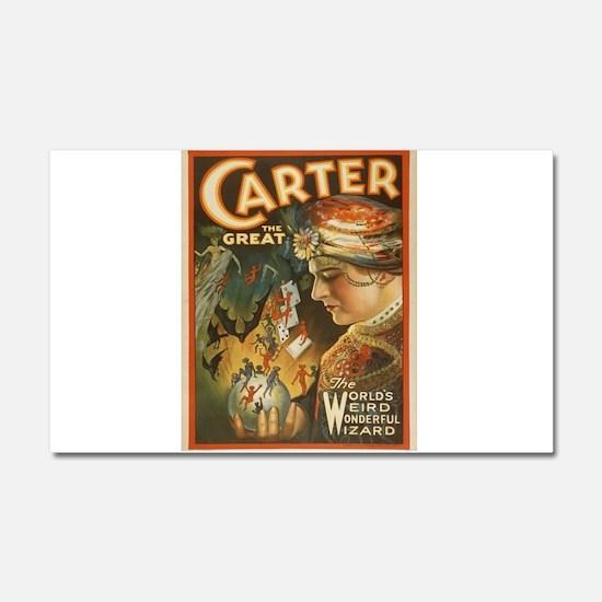 Vintage poster - Carter the Gre Car Magnet 20 x 12