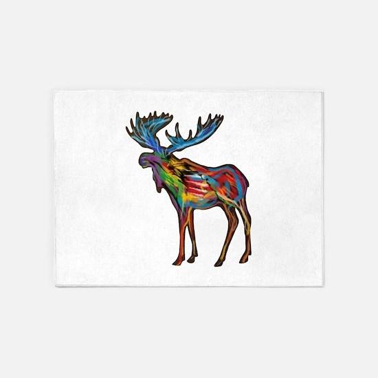 Moose 5 X7 Area Rug