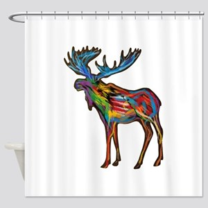Alaska Moose Shower Curtains