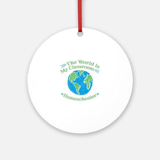 Unique Homeschooling Round Ornament