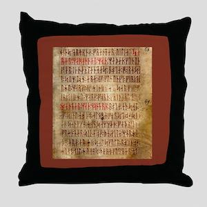 Codex Runic Throw Pillow