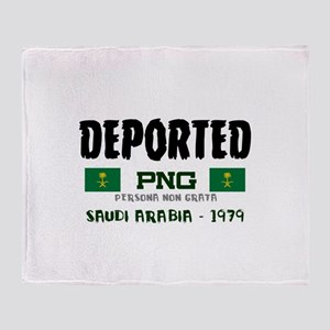 DEPORTED - SAUDI ARABIA -  PERSON Throw Blanket