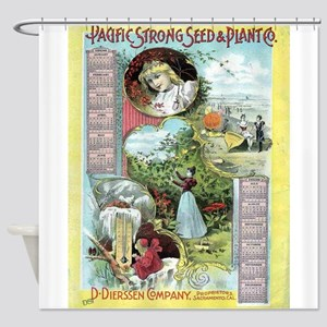 Vintage poster - Pacific Strong See Shower Curtain
