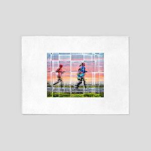 Women running 5'x7'Area Rug