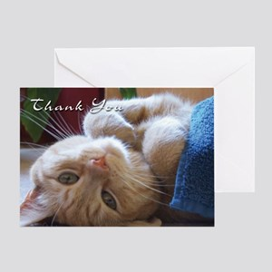 Cat Thank You Greeting Card