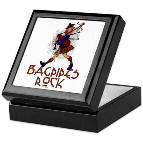 Bagpipes Rock Keepsake Box
