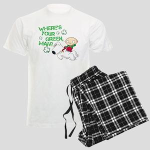 Family Guy Where's Your Green Men's Light Pajamas