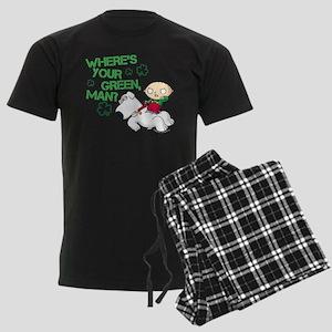 Family Guy Where's Your Green Men's Dark Pajamas