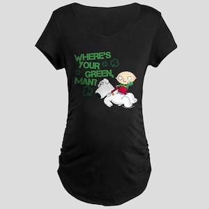 Family Guy Where's Your Gre Maternity Dark T-Shirt