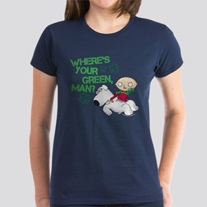 Family Guy Where's Your Green Women's Dark T-Shirt
