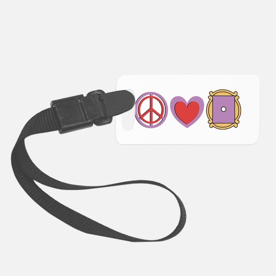 Peace Love Friends TV Show Luggage Tag