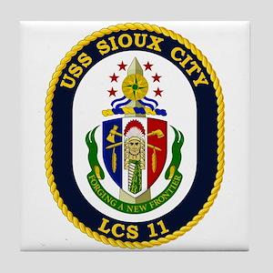 USS Sioux City Tile Coaster