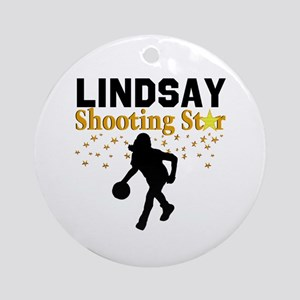 BASKETBALL STAR Round Ornament