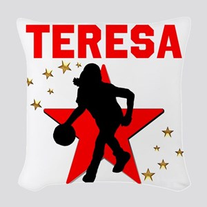 BASKETBALL STAR Woven Throw Pillow