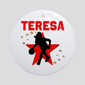 BASKETBALL STAR Round Ornament