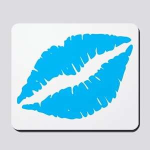 Blue Kiss Lips Mousepad
