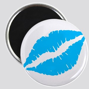 Blue Kiss Lips Magnets
