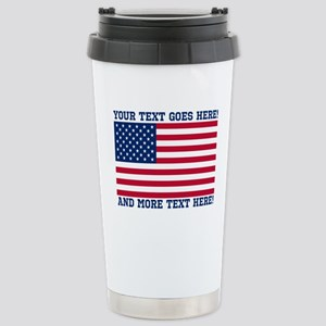 Personalized Patriotic American Flag Classic Trave
