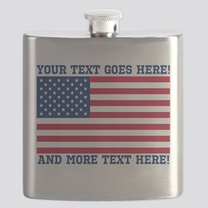 Personalized Patriotic American Flag Classic Flask
