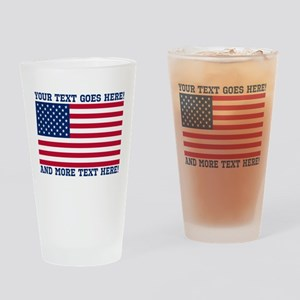 Personalized Patriotic American Flag Classic Drink