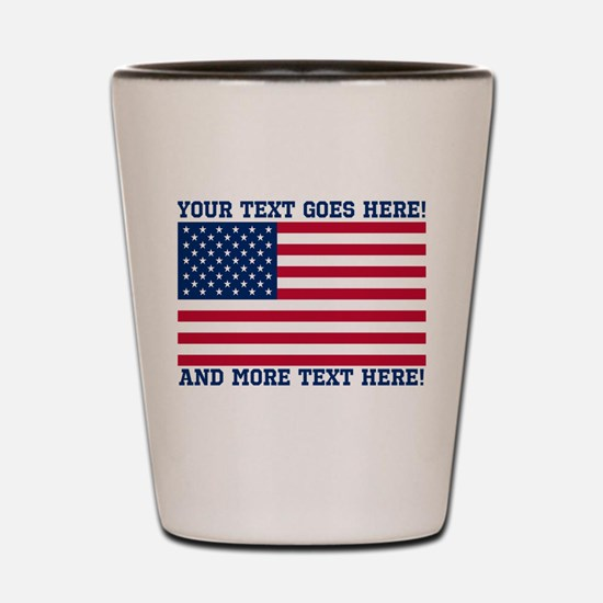 Personalized Patriotic American Flag Classic Shot